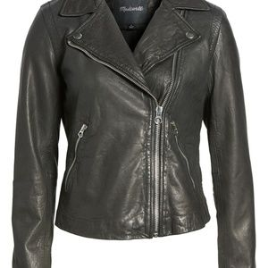 Madewell Washed Leather Motocycle Jacket